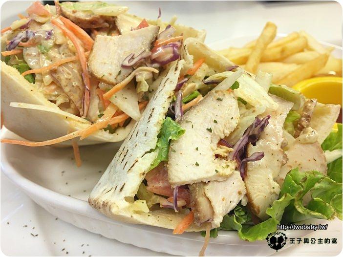 HB&P 美式餐廳-匈牙利炭烤雞胸肉鮮蔬口袋